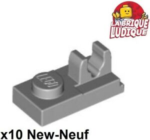 92280 Lego Light Bluish Grey 1x2 Plate with Top Clip x10 *NEW* Star Wars