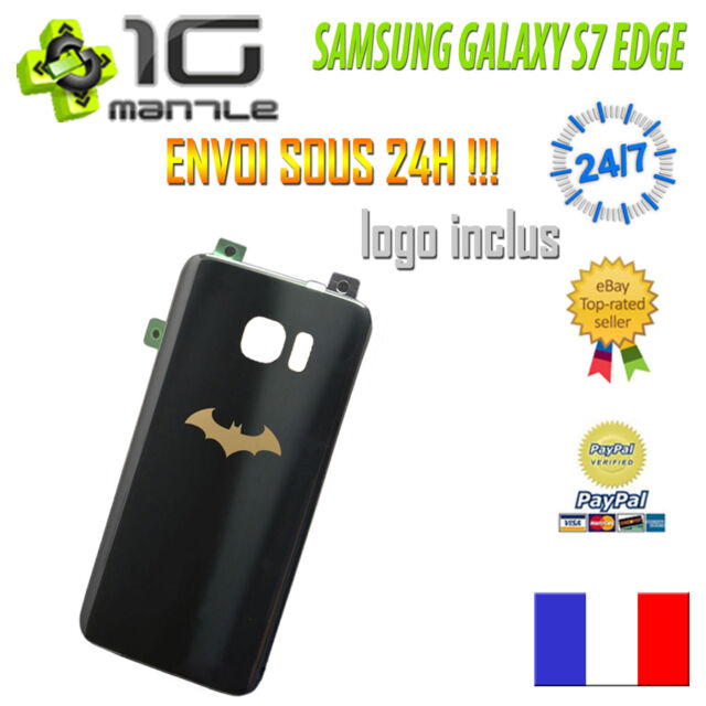 Vitre Arrière/Cache Capot Batterie SAMSUNG GALAXY S7 EDGE BATMAN INJUSTICE NOIR
