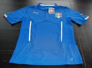 the latest 5605a 78ce6 Details about Puma Italy / Italia National Team Official Home Jersey XXL  Blue - New