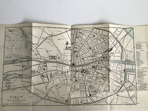 Dublin, 1894 Antique Street Map, Ireland Bartholomew Original ... on