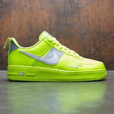 Nike Air Force 1 Low Utility Volt Electric Neon Yellow UK 3