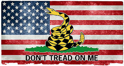 American Flag Don/'t Tread On Me Back Rear Window Graphic Perforated Decal Truck