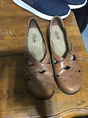Clarks Bendable Shoes Casual Walking Sandal Women 9 Brown Leather | eBay