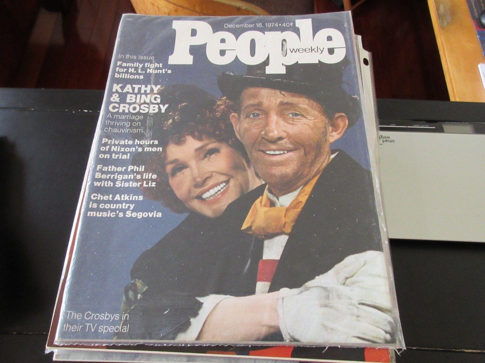 Kathy & Bing Crosby , People Weekly , 12/16/74 , L.Hunt
