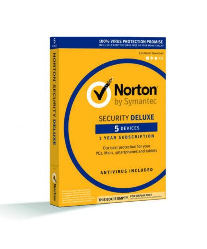5 Device // 1-Year Norton Security Deluxe Region: North America CD