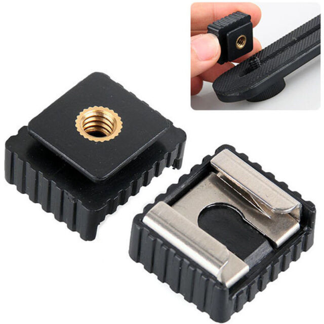 """Flash Cold Hot Shoe Bracket Mount Adapter 1/4"""" Screw for Tripod Utility"""