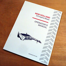 New Holland 472 Haybine Mower Conditioner Operators Owners Book Guide Manual Nh