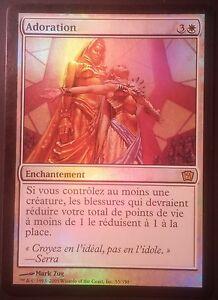 Adoration-PREMIUM-FOIL-VF-9eme-edition-French-Worship-9th-Magic-Mtg