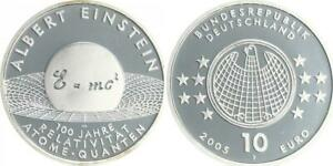 Relativitätstheorie 2005 Mint Mark J Proof, IN Coin Capsule