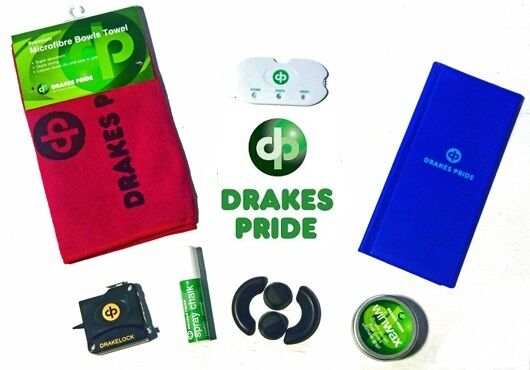 DRAKES PRIDE ACCESSORY SET FOR FLAT GREEN BOWLS MAKES AN IDEAL GIFT
