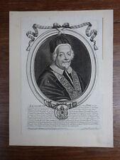 ALEXANDRE VIII Papa Pape Pope (1610-1691) Alessandro Alexander GRAVURE XVIIIe