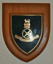 Army School of Mechanical Transport regimental mess wall plaque shield crest