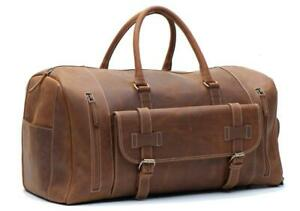 Leather Duffle Bags- Overnight/ Weekender DUFFLE BAGS- HANDMADE Canada Preview