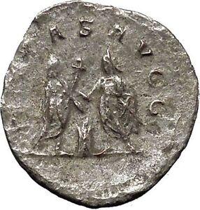 Rome Mint Aggressive Gallienus Silver Antoninianus Ancient Roman Imperial Coin.