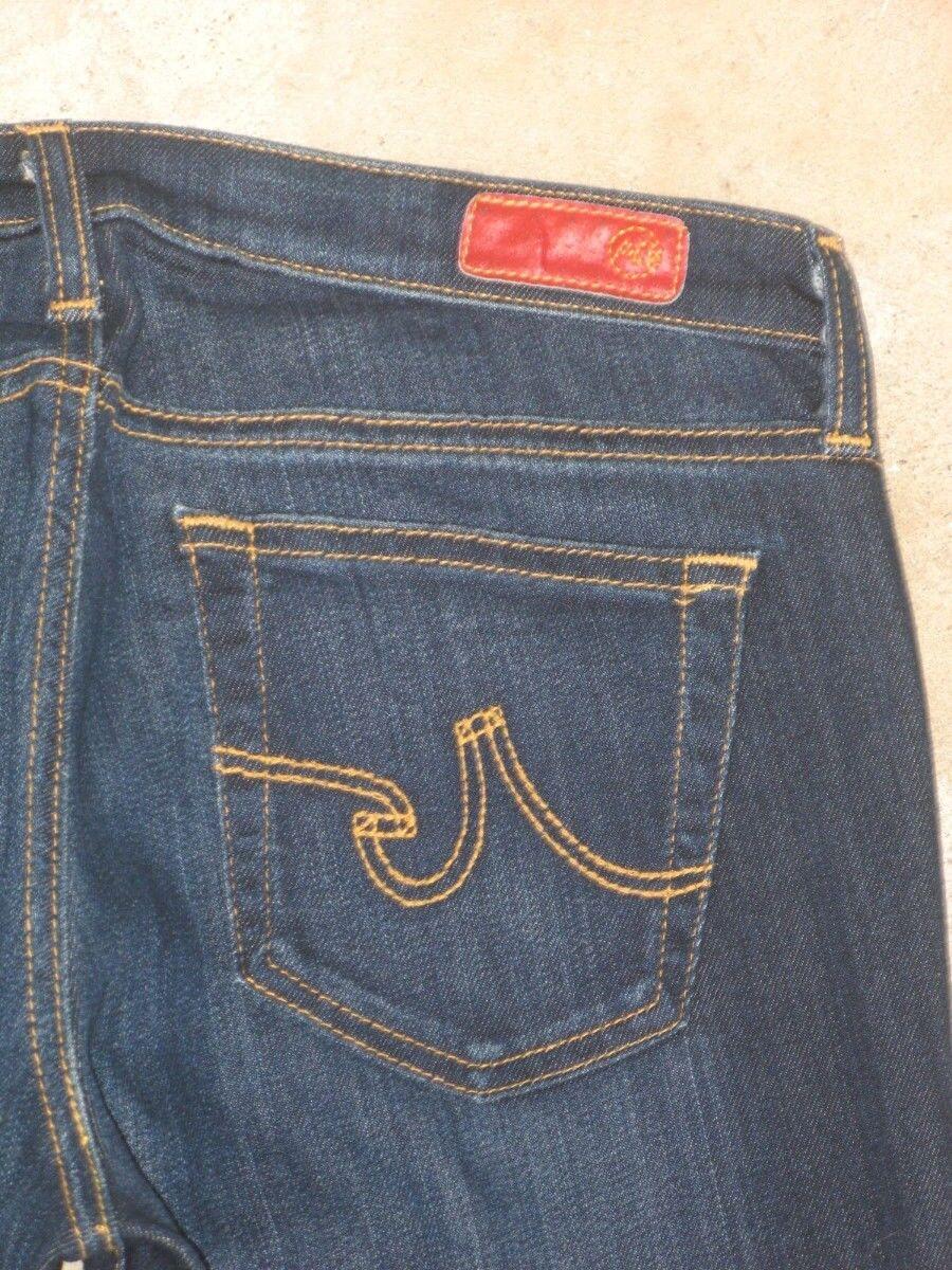 AG ADRIANO goldSCHMIED Angel Jeans Low Boot Sz 29 XL  Dark Distressed NEW