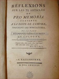 FELLER-Francois-Xavier-REFLEXIONES-sur-le-73-Articulos-1788-Regensburg