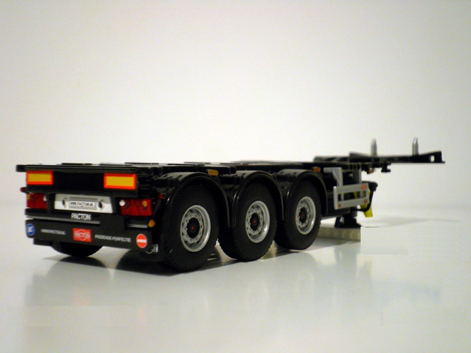 WSI modelos de camión, remolque de 3 ejes contenedor (extensible), 1 50