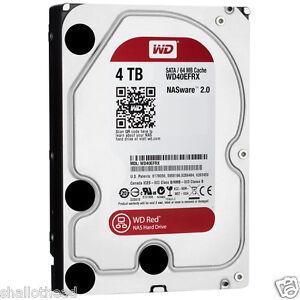 "WESTERN DIGITAL WD Red 4TB 3.5"" SATA Internal Desktop NAS HDD 5400RPM"
