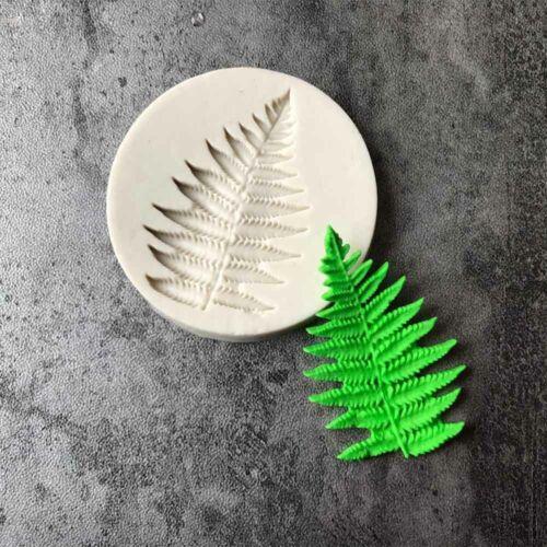 New Baking  Decorating Cake Fern Leaf Sugarcraft Silicone Mold Fondant