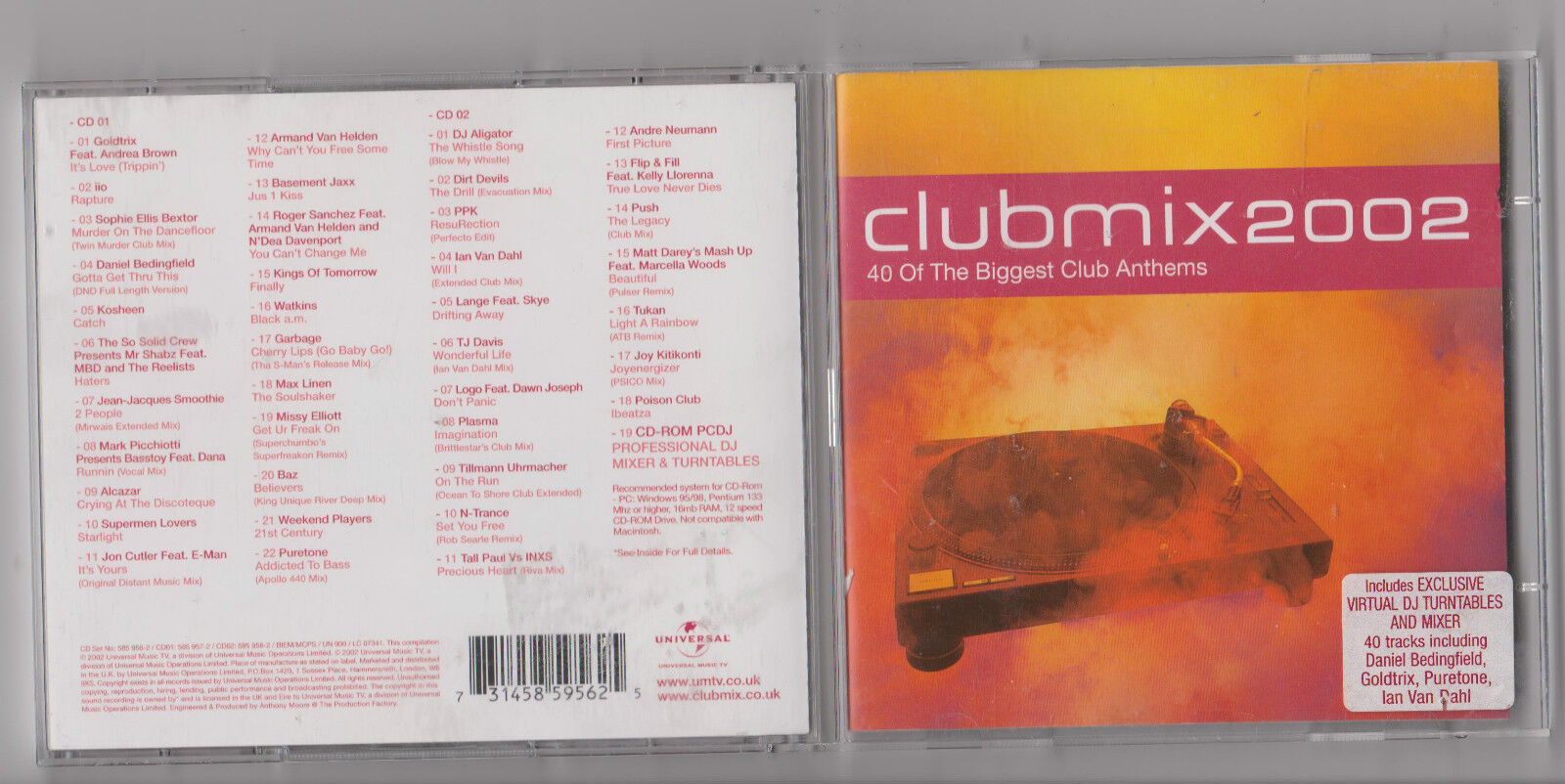 Music CD Club Mix 2002 - 40 of The Biggest Club Anthems