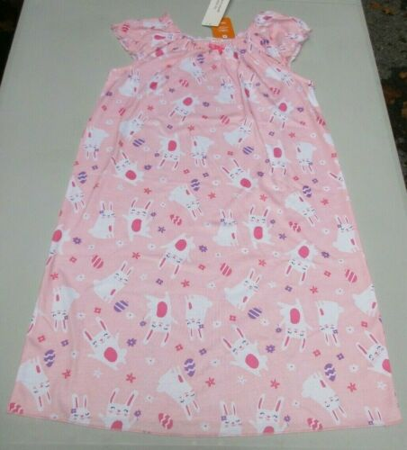 Gymboree Pink Easter Egg Bunny Rabbit Flower Nightgown Gown Size L 10-12 NWT