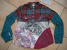 (393) Nolita Pocket Girls Materialmix Tunika Bluse Stickerei & Pailleten gr.164
