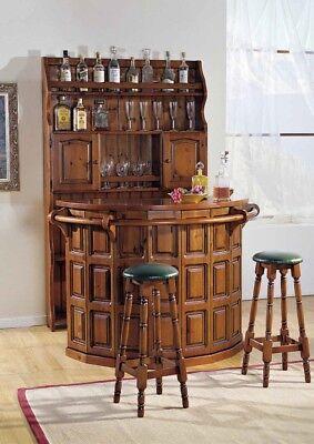 Angolo Bar Da Salotto Prezzi.Bottigliera Bancone Bar Con Sgabelli In Legno Noce Mobile Bar Ebay