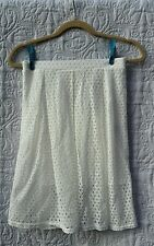 Ladies funky white lace lined skirt sz uk 8 by Missy Empire brand new