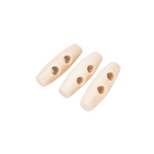 20pcs 2 trous bois duffle klaxon boutons bascule bébé adulte tissu chic BBFR
