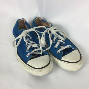 4c586726fb1d Vintage Converse Made in USA Blue Chuck Taylor All Stars Size 6 RARE