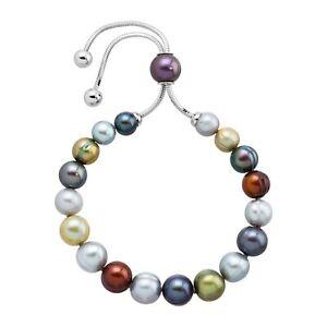 Honora-Freshwater-Multi-Pearl-Bolo-Bracelet-with-Slider-in-Stainless-Steel