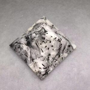 Rare Natural Black Rutilated Hair Quartz Crystal Pyramid Gemstone Healing 337g