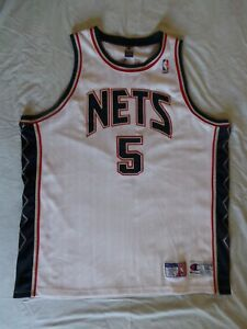 ceec523663b Champion Authentic New Jersey Nets Jason Kidd Jersey vintage sz 56 ...