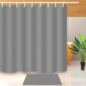 Image Is Loading 72x72 039 Solid Grey Bathroom Shower Curtain