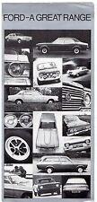 Ford 1970-71 UK Market Foldout Sales Brochure Escort Cortina Capri Zephyr Zodiac