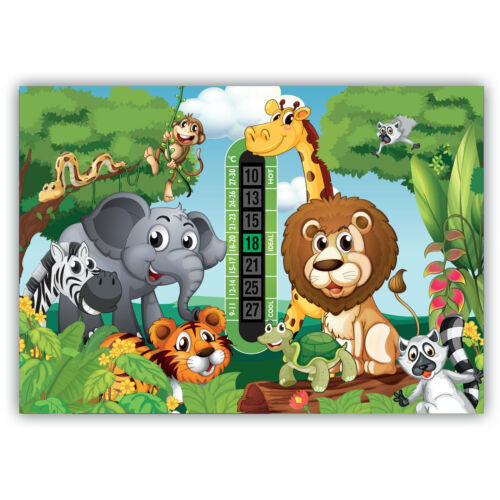 Thermomètre de chambre salle de jungle /& lion Front Thermomètre de Fièvre Twin Pack