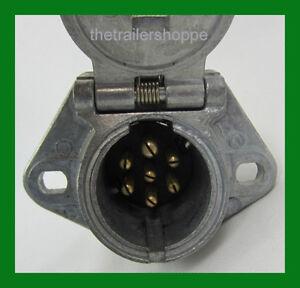 7 way socket semi trailer truck light connector round