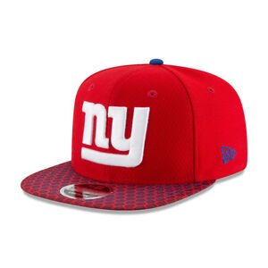 Snapback Sideline New Cap Red tags W Of Era York Nfl 9fifty Giants HwaqF