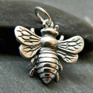 Bee Pendant in Sterling silver 925 made in italy