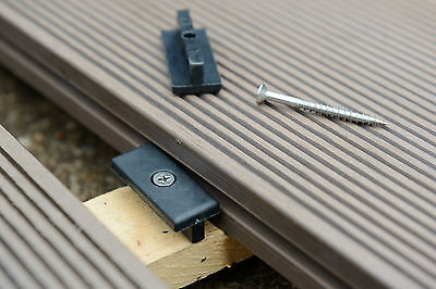 Composite Deck Fixings 100 plastic T clips + M4x45 stainless steel wood screws