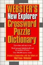 Webster's New Explorer Crossword Puzzle Dictionary Editors of Merriam-Webster I