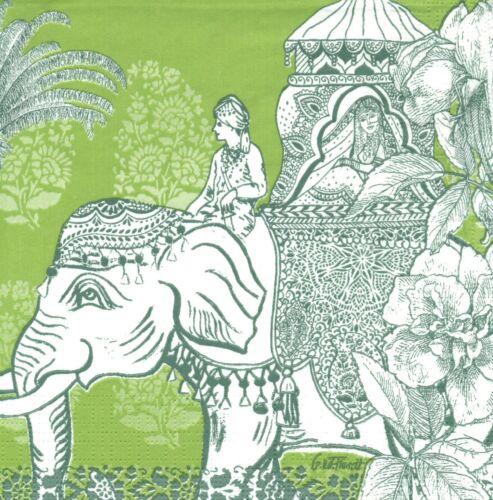 Serviettes en papier Passage des Indes Decoupage Paper Napkins Passage to India