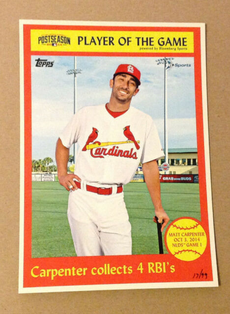 MATT CARPENTER #15/99 Made Cardinals 2014 Topps Exclusive 5x7 Postseason Player