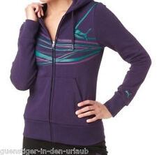 Puma señora kapuzensweatjacke sweatjacke chaqueta sport fitness lila s nuevo
