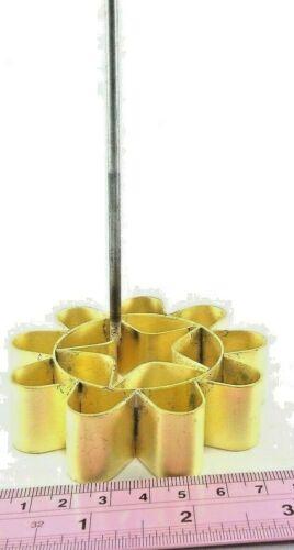 Thai DOK JOK Brass Flower Cookies Mold Maker Sweet Dessert TeaTime Coffee Snack