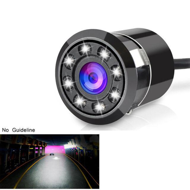 Car Backup Rear View Reverse Camera 170° Waterproof 8 LED HD CCD Night Vision
