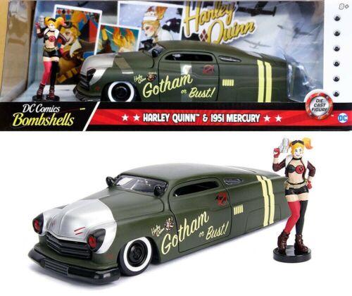Dc Comics Bombshells Harley Quinn 1951 Mercury  mit  Figur 1:24 Jada