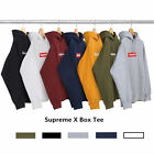 100% Authrntic  Supreme Box Logo Pullover Hoodie Pink Black ArmyGreen Gray S-X