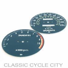 DUCATI SD SS 900 MHR paragrafo fogli FACE plates gauges TACHOMETER SPEEDOMETER
