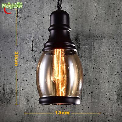 Industrial Style Glass Pendant Light Chandeliers Bar/Restaurant Lamp Luminaire